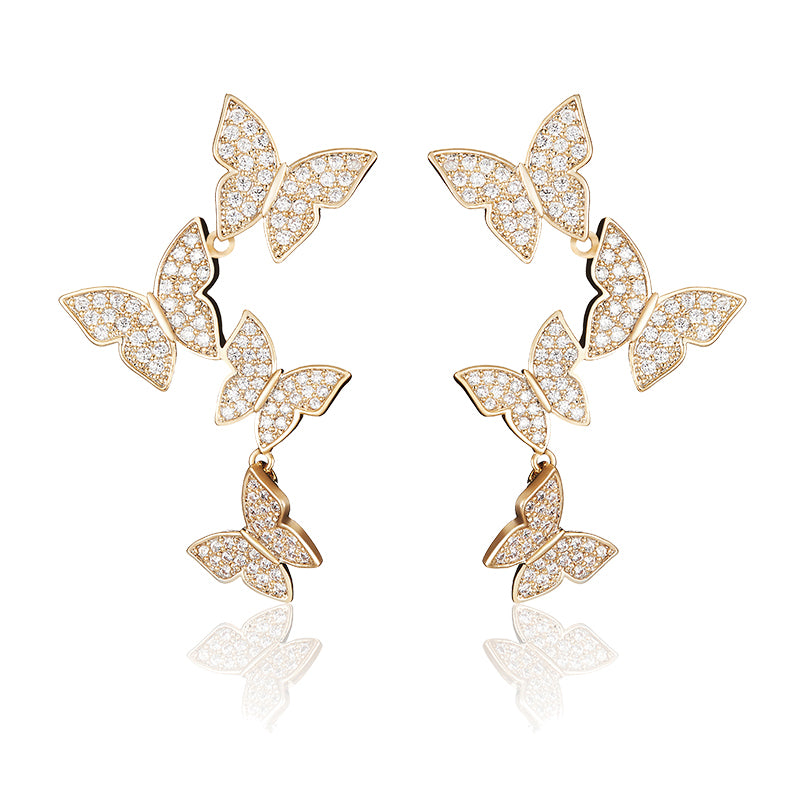 Butterfly Flying Studs