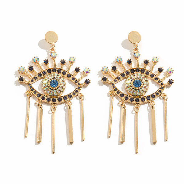 Funny Diamond Eyes Earrings