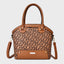 Solid Carving Vintage Crossbody Bag-Brown