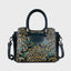 Vintage Flower Embrossed Brush-off Leather Handbag-Green