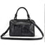 New Retro Genuine Leather Hand-painted Fashion Casual Messenger Bag-Black
