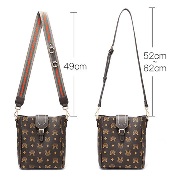 Independent Design Printing Large Capacity Composite Bucket Bag-Coffee
