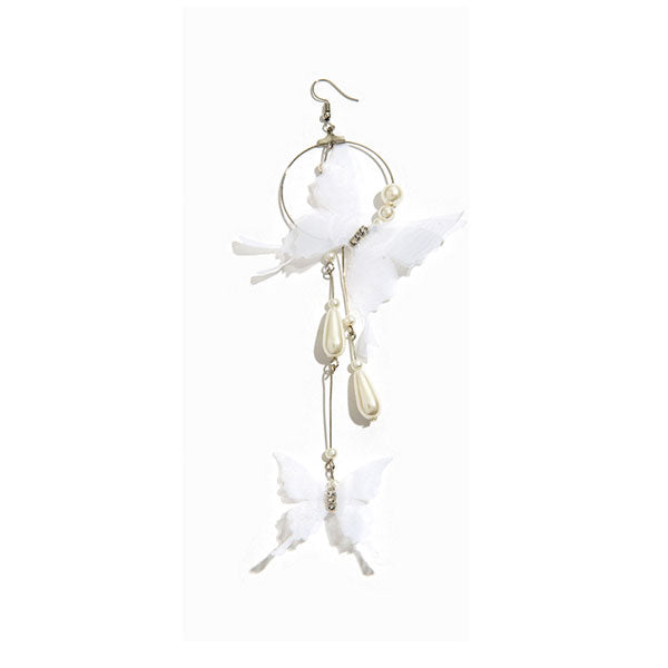 Butterfly Pearl Long Ear Hook
