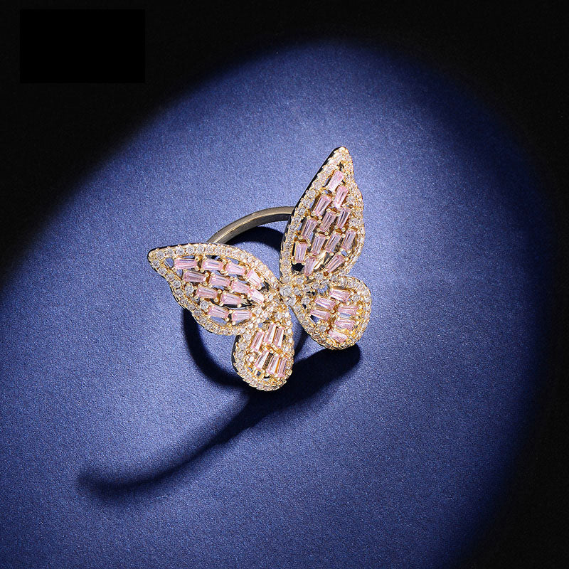 Delicate Diamond Butterfly Ring