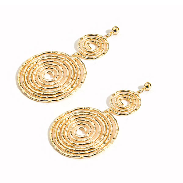 925 Silver Pin Personality Circle Big Earrings