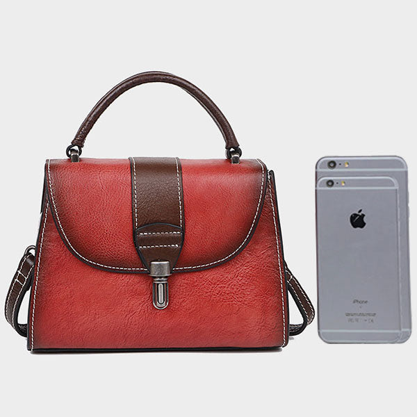 Vintage Hand Rubbing Crossbody-Red