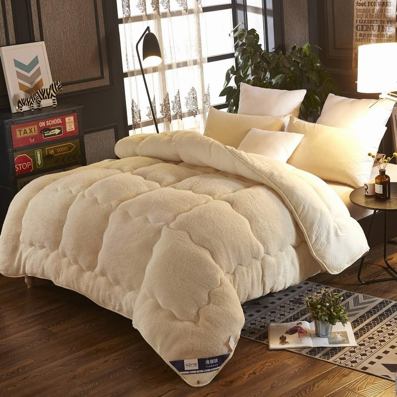 4Kg Thicken Lamb Cashmere Blanket Winter Soft Warm Bed Quilt for Bedding Twin Full Queen King Size(FREE SHIPPING)