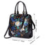 New Retro Women's Handmade Brush-off Embossed Large Capacity Ethnic Style Painted Tote Bag-Black