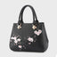 Plum Blossom  Embossed Retro Handbag-Black