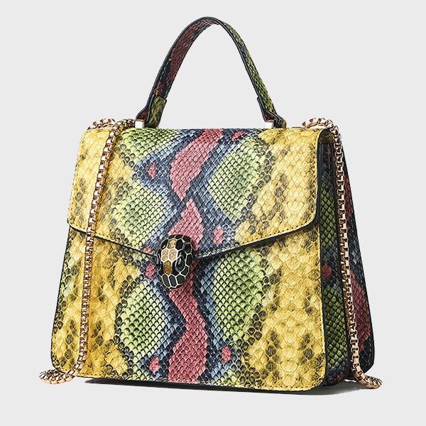 Snakeskin Pattern Handbag-Red