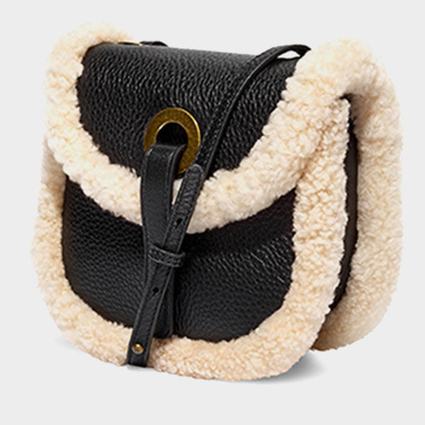 New Winter Lambswool Saddle Bag