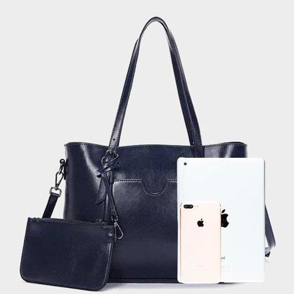 Simple Classic Tote Bag-Black