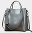 Simple Classic Oil Wax Leather Crossbody Bag-Grey