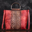 Vintage Leather Embossing Crossbody Bag-Red