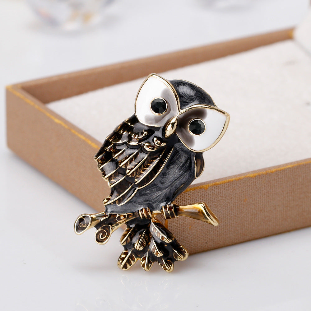 Cute owl brooch