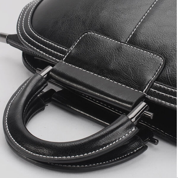 Solid  Color Large Capacity Crossbody Bag-Black
