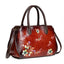 Vintage Casual Handmade Brush-off Floral Printed Messenger Bag-Red
