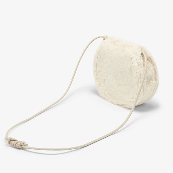 Winter New Plush Clam Round Cake Bag
