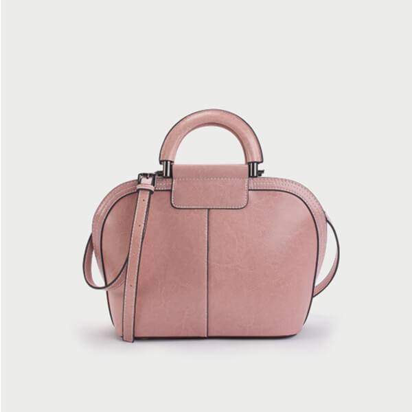 Solid  Color Large Capacity Crossbody Bag-Pink