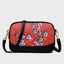 Retro Plum Blossom Embossed Crossbody Bags-Red