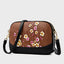 Retro Plum Blossom Embossed Crossbody Bags-Brown