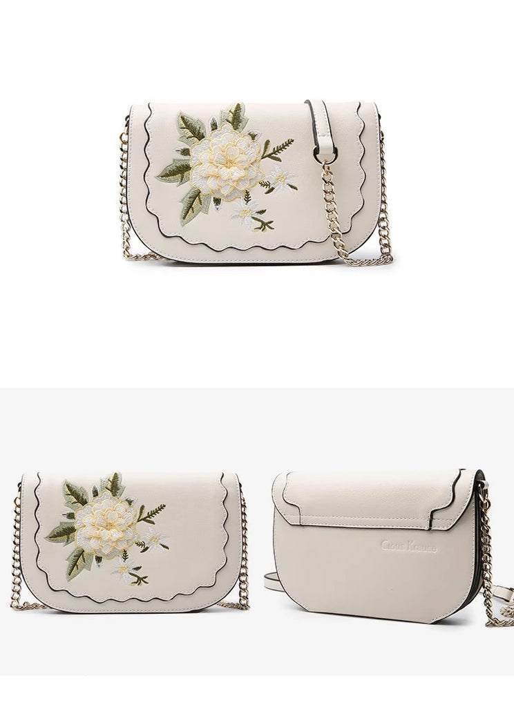 flower elegent crossbody shoulder bag