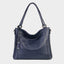 Genuine Leather Tote Bag-Blue