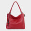 Genuine Leather Tote Bag-Red
