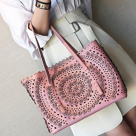 3D Hollow  Petal Tote Bag