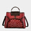 Printed Vintage Genuine Art Leather Handbag-Red