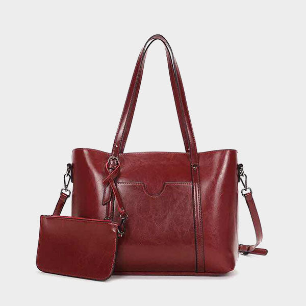 Simple Classic Tote Bag-Red