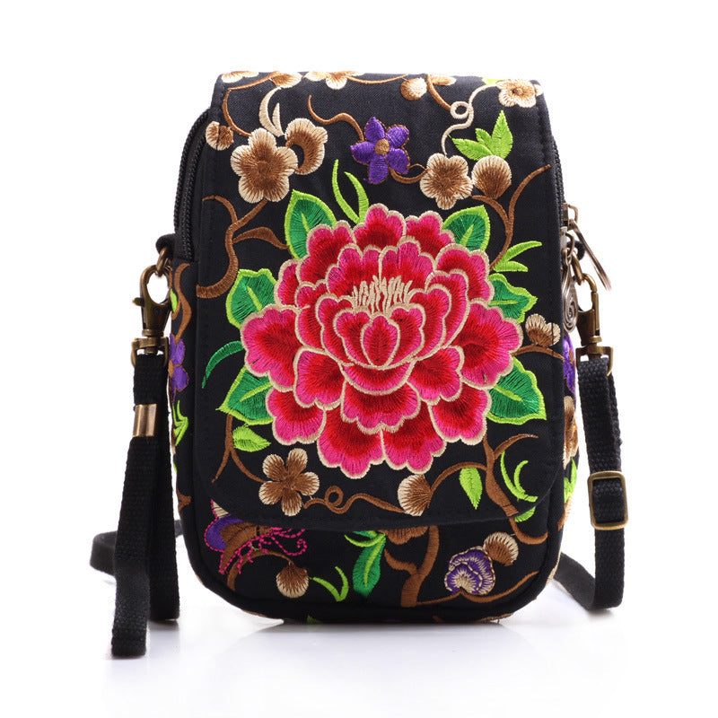 Flip Cover Embroidered Mobile Phone Bag