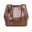 Solid Color Crocodile Crossbody Bag