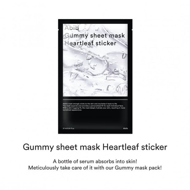 Gummy Sheet Mask Pack Heartleaf Sticker 10p