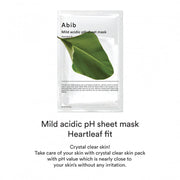 Mild Acidic pH Sheet Mask Heartleaf Fit
