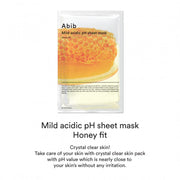 Mild Acidic pH Sheet Mask Honey Fit