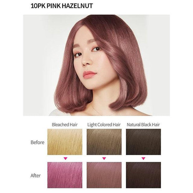 #8 colour 10pk pink hazelnut