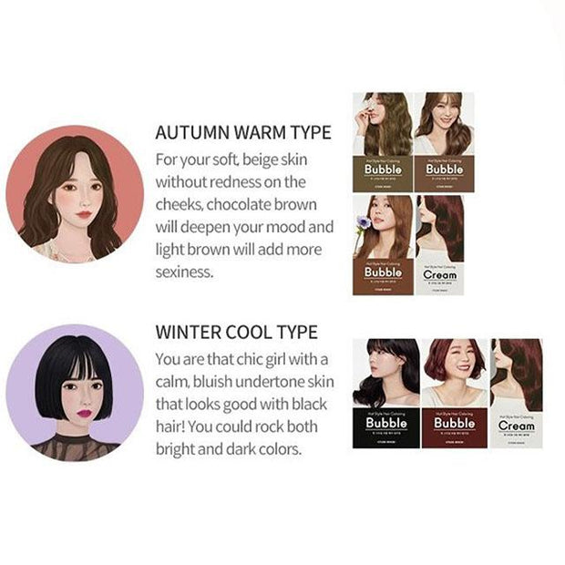 autumn warm type and winter cool type