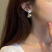 Flower Drop Earring