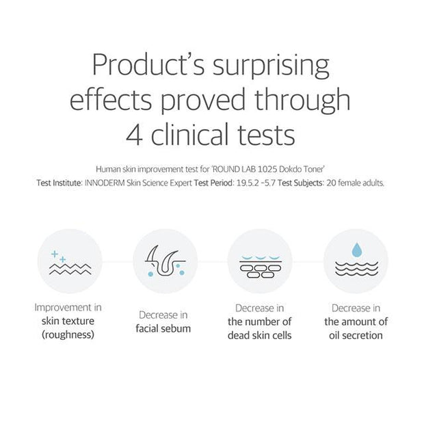 product's surprising effects proved through 4 clinical tests