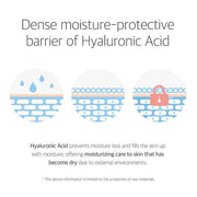 dense moisture-protective barrier of hyaluronic acid