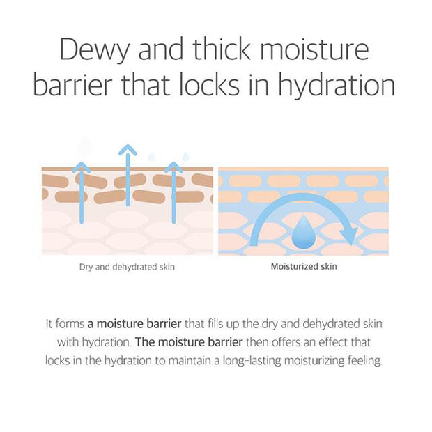 dewy and thick moisture barrier that locks in hydration