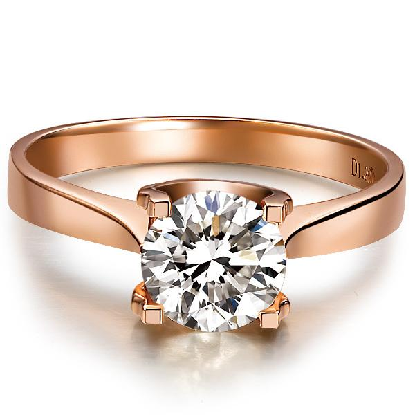 1 Carat Genuine Rose Gold  Indigenous Certified Moissanite Women Engagement Ring Romantic Fine Jewelry Gift For Bridal