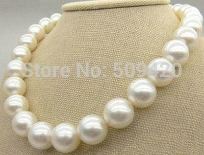 "~~  >>18""14KGP 10-11MM SOUTH SEA WHITE PEARL NECKLACE"
