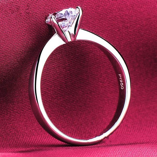 1Ct Heart Shape Classic Jewelry Never Fade Extraordinary Solid AU585 White Gold Quality Reliable Ring for Women Wedding