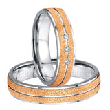 anel masculino ouro titanium engaged rose gold color unique custom engagement wedding rings