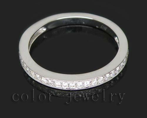 0.15ct Solid 18Kt White Gold Diamond Wedding Band Ring for Couple Loving Fine Jewelry