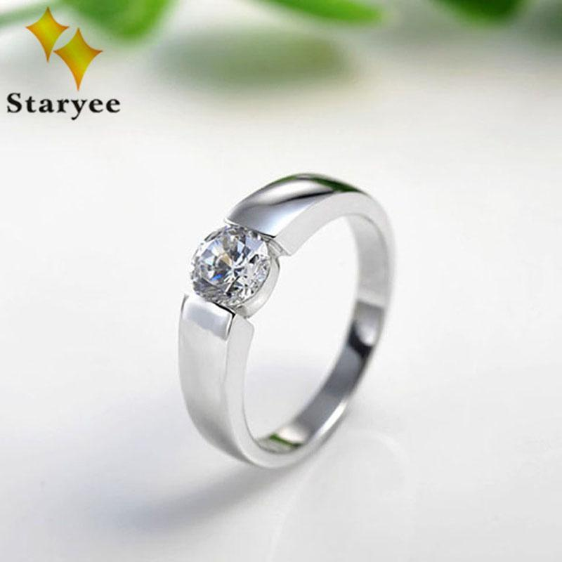 0.50CT Round Cut Moissanite Ring Pure 14K Solid White Gold Engagement Jewelry VVS D Certified Factory Direct