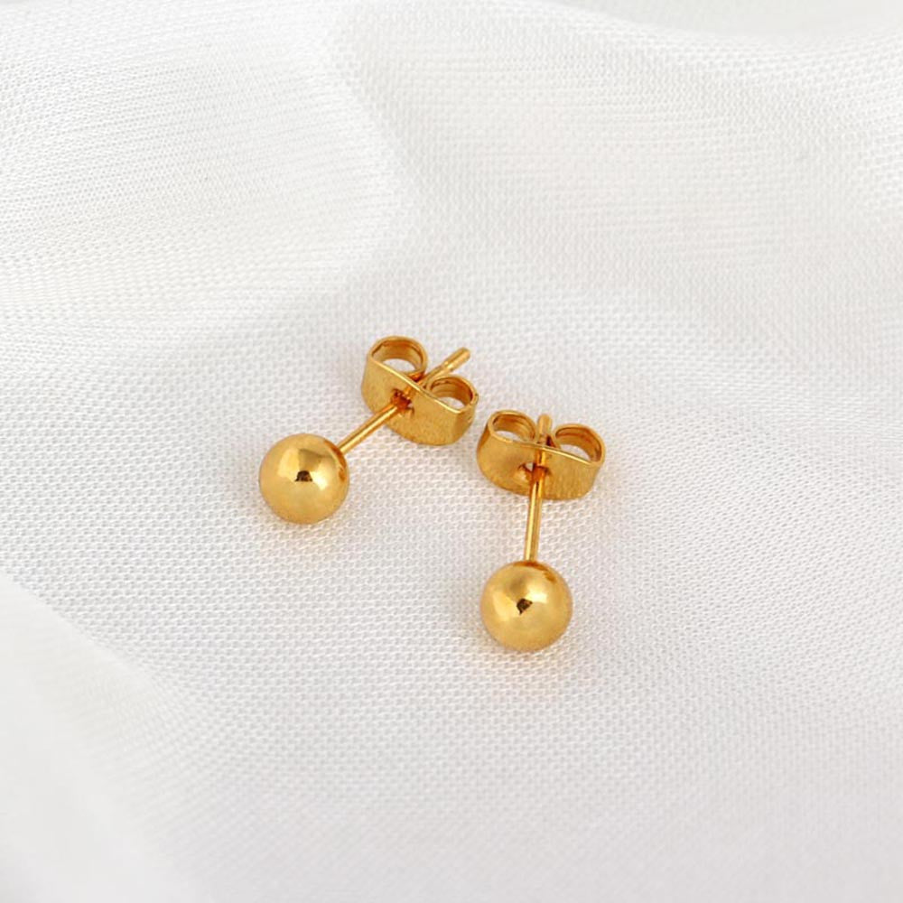 1Pair Women Earring Ear Stud 8k Gold
