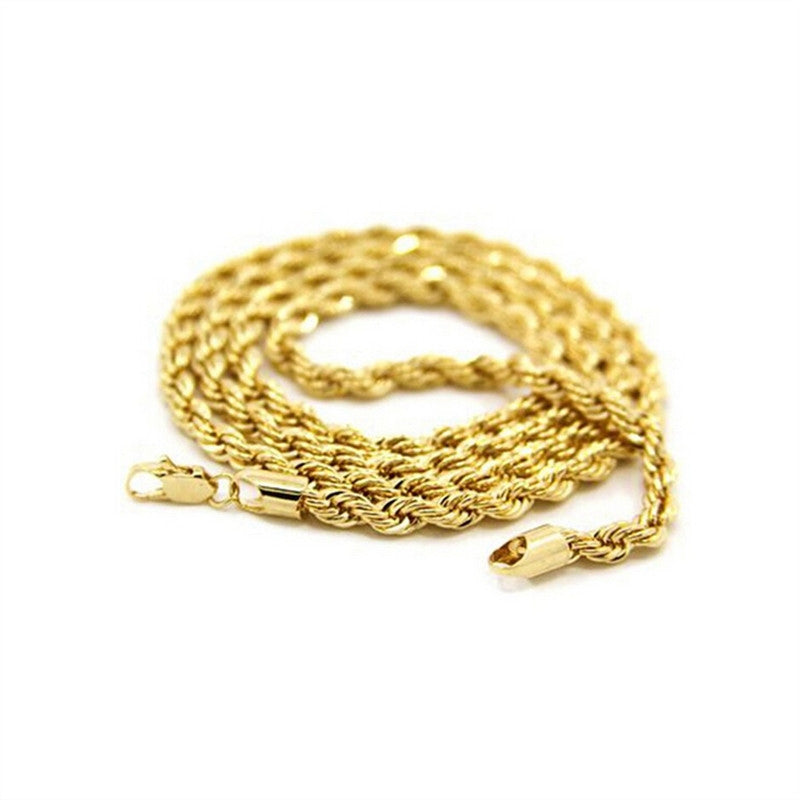 Fashion Men's Boys Swivel Style 24K Gold Pendant Necklace